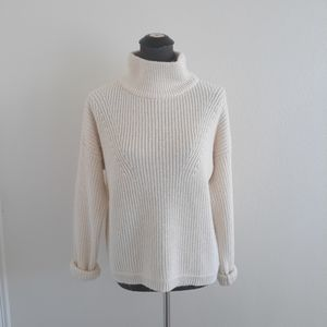 French Connection Fisherman knit sweater beige M